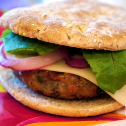 Mushroom-Swiss Turkey Burger from UnrulyBliss.com