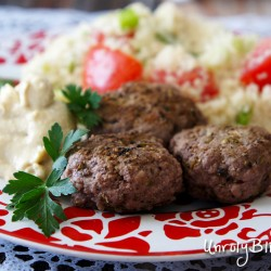 Spiced Mini Burgers with Couscous Salad from UnrulyBliss.com