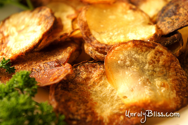 Homemade Salt & Vinegar Chips from UnrulyBliss.com