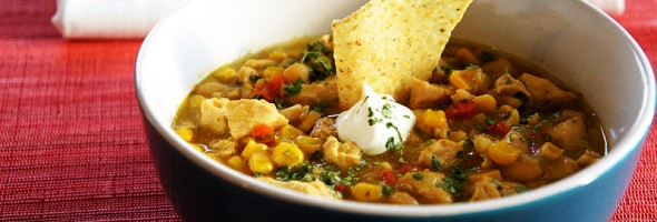 White Chicken Chili in the Crock-Pot
