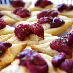 Roasted Strawberry Goat Cheese Squares from UnrulyBliss.com