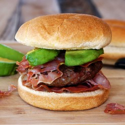 Avocado Prosciutto Burger from UnrulyBliss.com