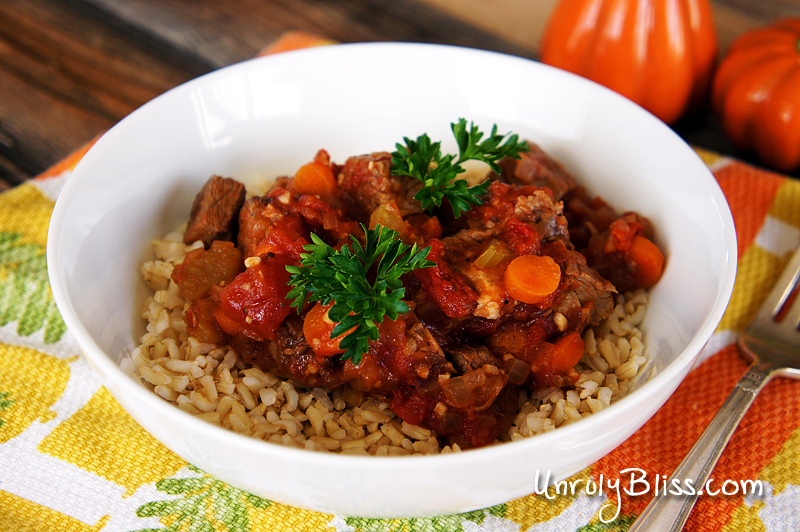 Slow Cooker Beef and Tomato Stew   Unruly Bliss