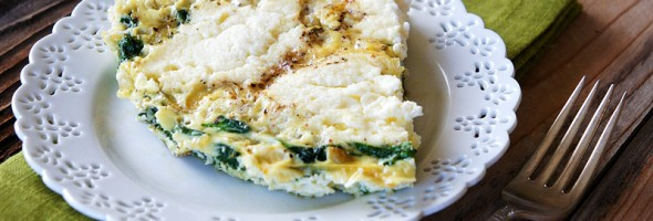 Three Cheese Spinach Fritatta