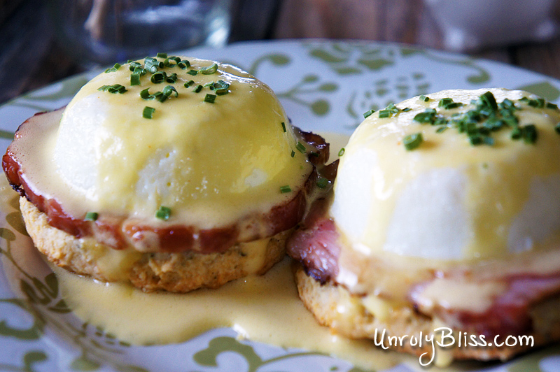 Eggs Benedict with Easy Homemade Hollandaise Sauce and Homemade Sage Biscuits from UnrulyBliss.com