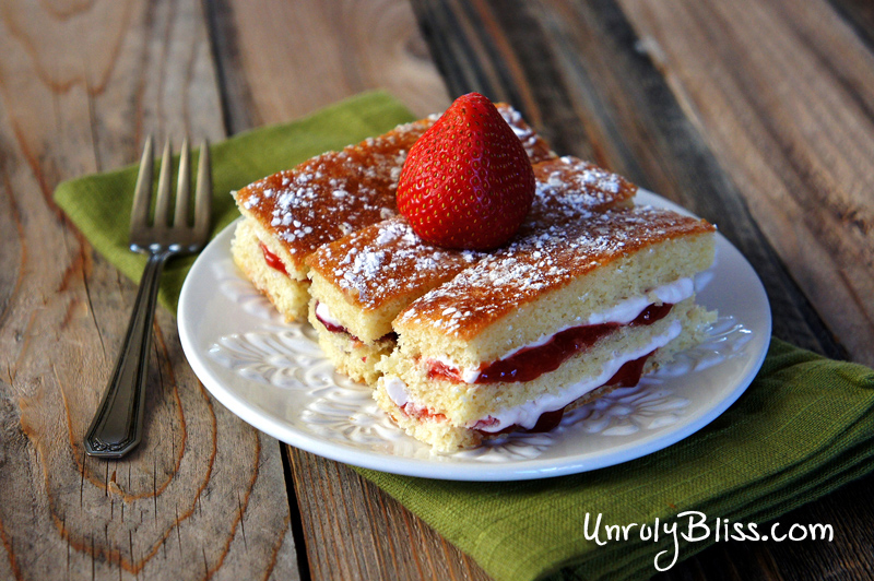 Layered Jam Cakes from UnrulyBliss.com