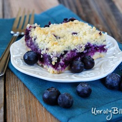 Blueberry Crumb Bars from UnrulyBliss.com