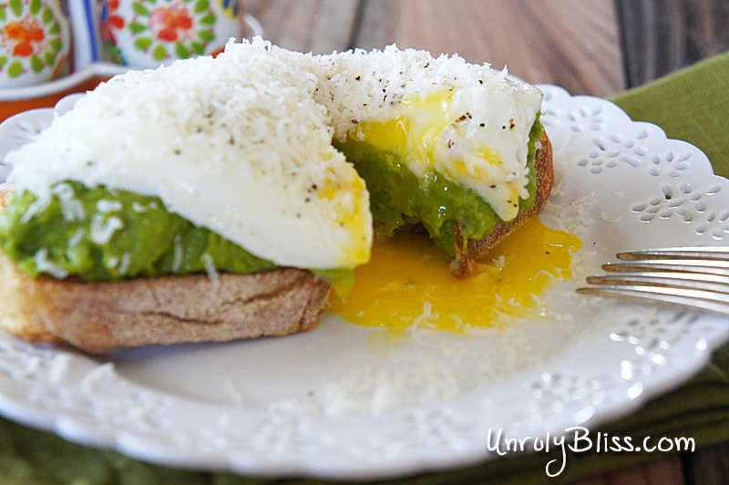 Avocado Egg Toasts from UnrulyBliss.com