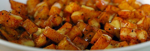 Potatoes Bravas with Lemon Garlic Aioli