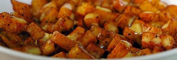 Potatoes Bravas with Lemon Garlic Aioli
