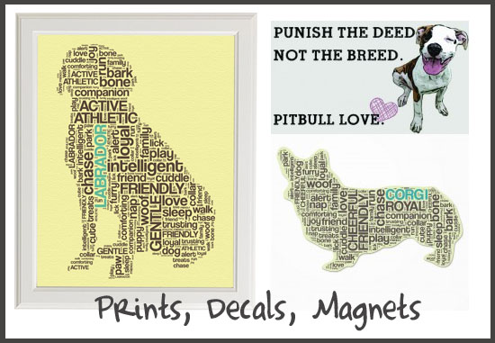 Prints, Decals, Magnets from Dog City & Co.
