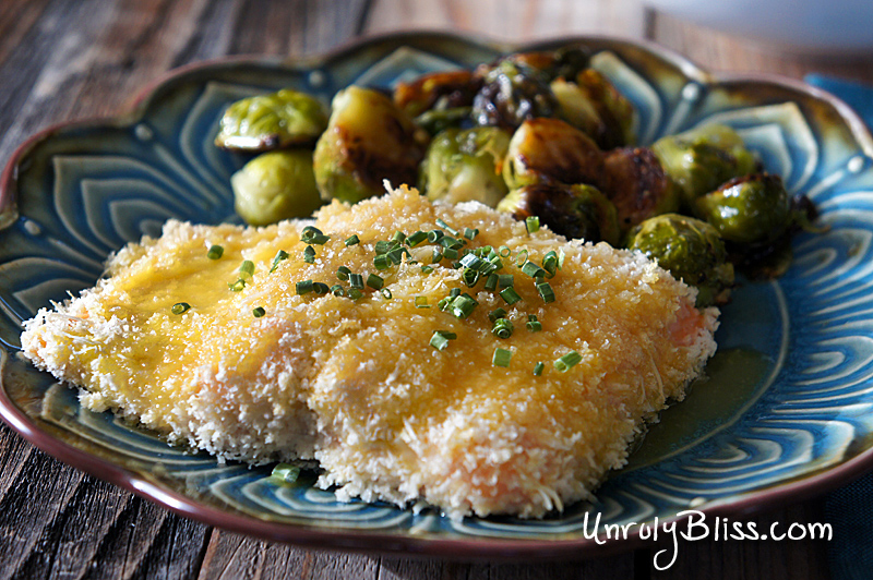 Crusted Salmon with Honey Mustard Sauce from UnrulyBliss.com