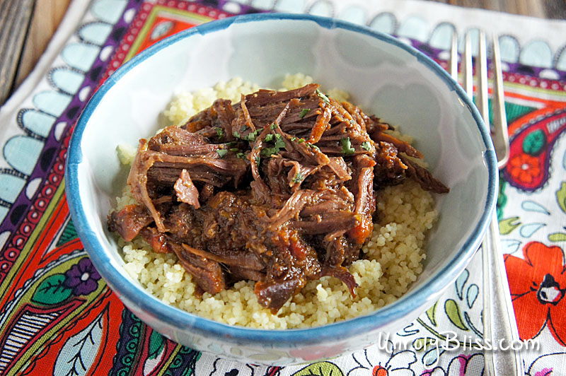Slow Cooker Moroccan Short Ribs With Couscous from UnrulyBliss.com