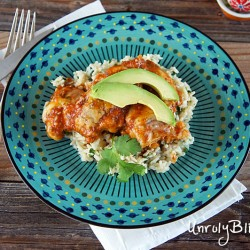 Chipotle Baked Chicken with Cilantro-Lime Rice from Unrulybliss.com